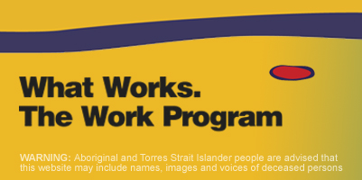 What Works. The Work Program