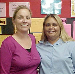 Kym Allsop (left), with Aboriginal Liaison Officer Tanya Garlett